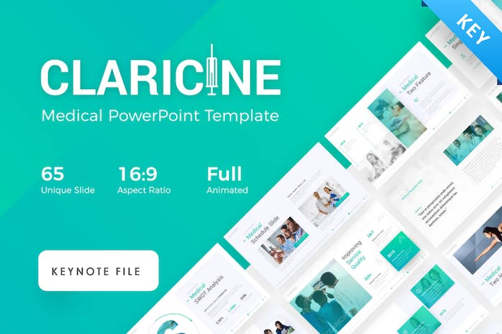 Claricine – Medical Keynote Presentation Template