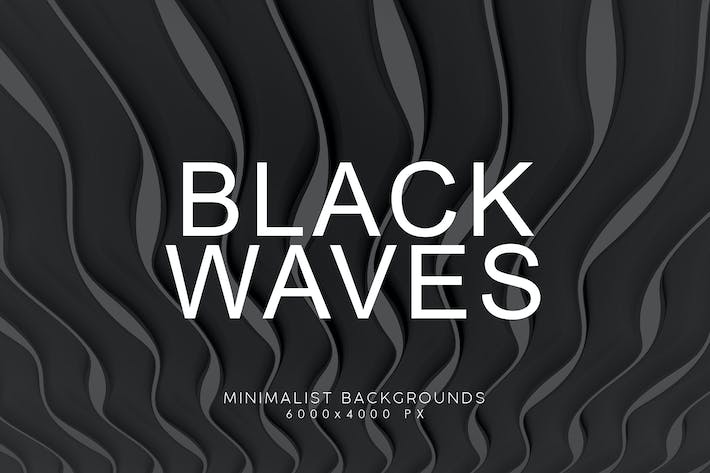 Thumbnail for Black Minimalist Wave Backgrounds 4