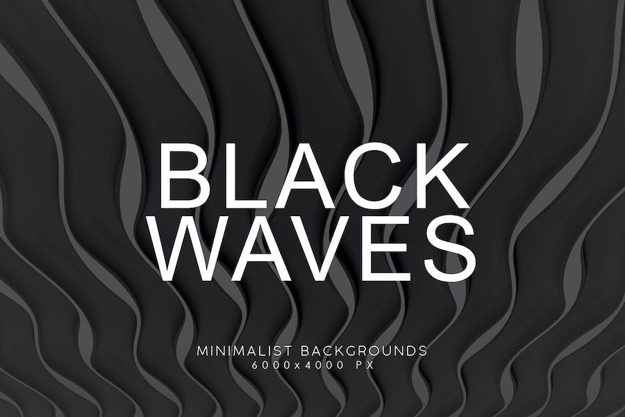 Black Minimalist Wave Backgrounds 4