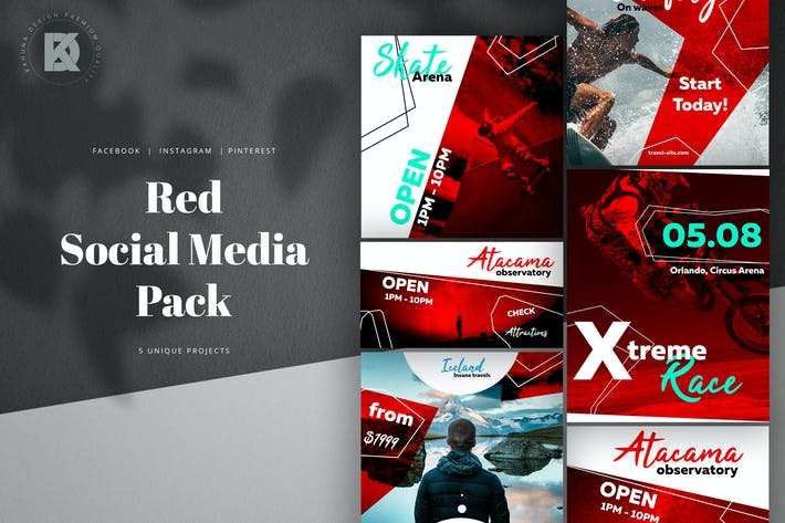 Cover Image For Social Media Red Pack