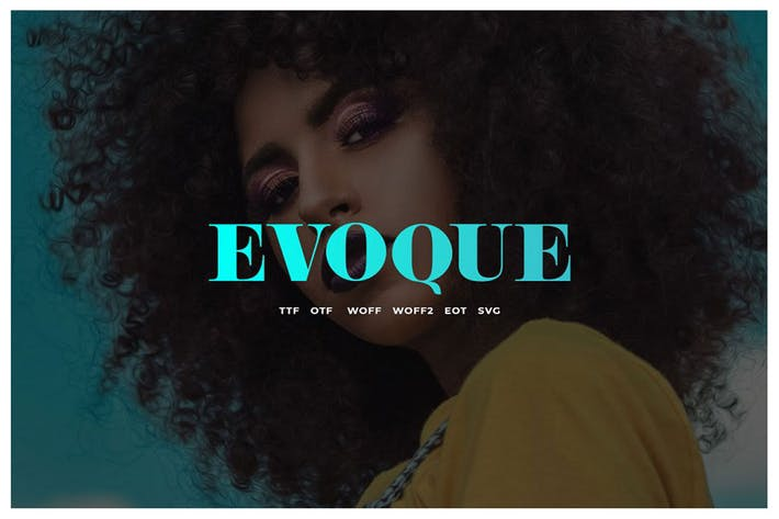 Thumbnail for Evoque: vintage Serif famille de polices