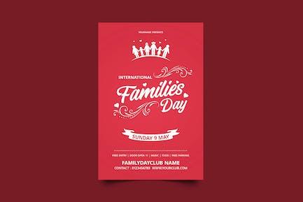Familientag/Flyer zum internationalen Familientag
