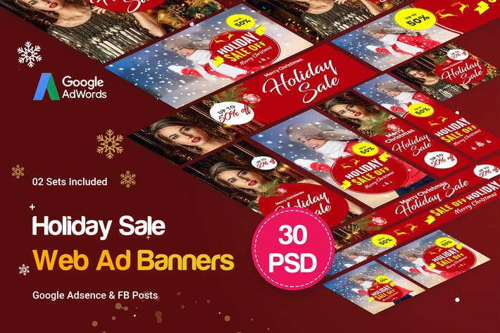 Thumbnail for Holiday Sale Banners Ad
