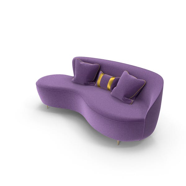 Curved Purple Sofa