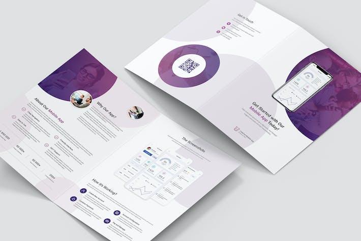 Thumbnail for Brochure – Creative App Bi-Fold