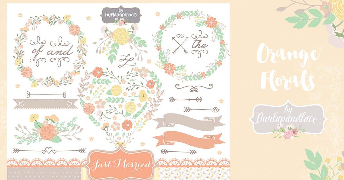 Download Orange Wreaths Vector by burlapandlace
