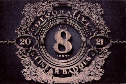 8 insignias decorativas y lineales