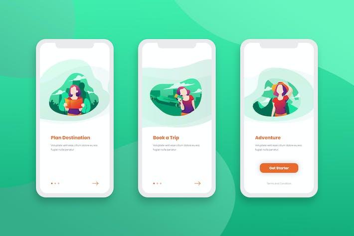 Thumbnail for Aplicación móvil de pantallas de incorporación