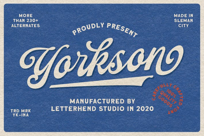 Cover Image For Yorkson - Fuente Logotipo de Script
