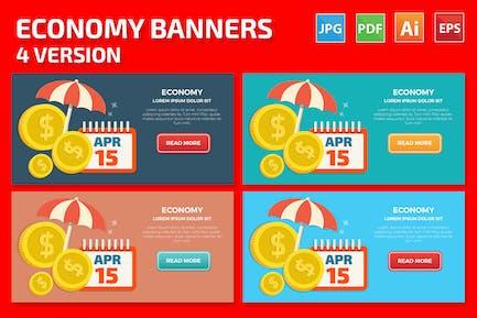 Economy Banners Design