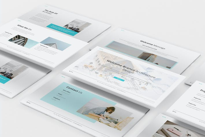 Branco Architecture Powerpoint Template