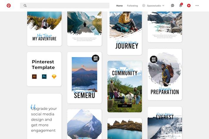 Thumbnail for Pinterest Template Brush Adventure