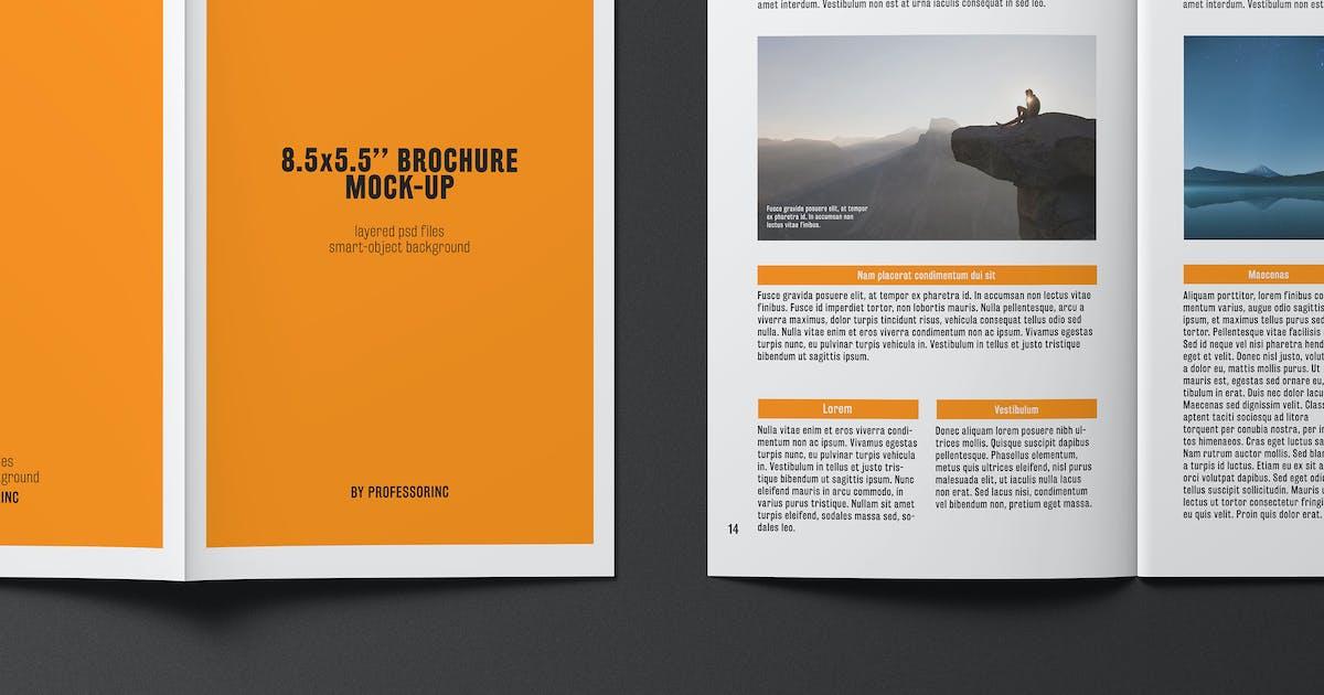 Download 8.5x5.5 Brochure / Catalogue Mock-Up by professorinc