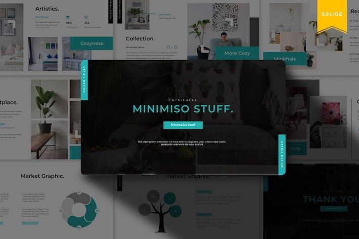 Thumbnail for Минимизо Материал | Шаблон слайдов Google