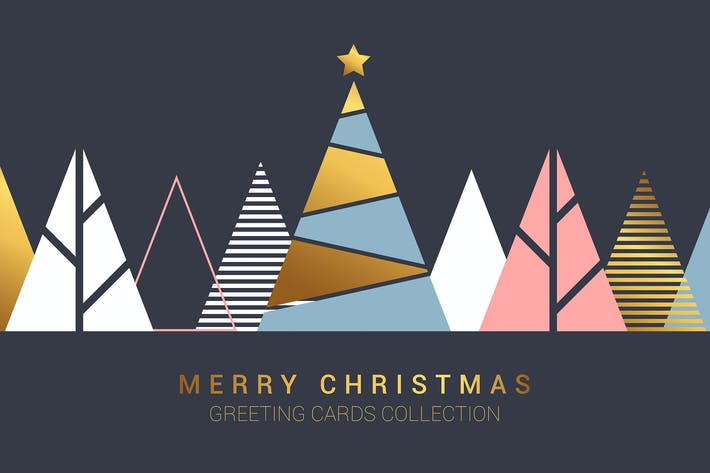 Thumbnail for Modern design Creative Christmas greeting cards