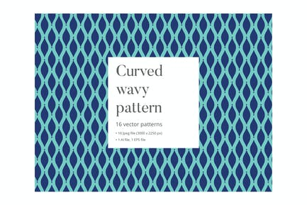 Curved wavy pattern