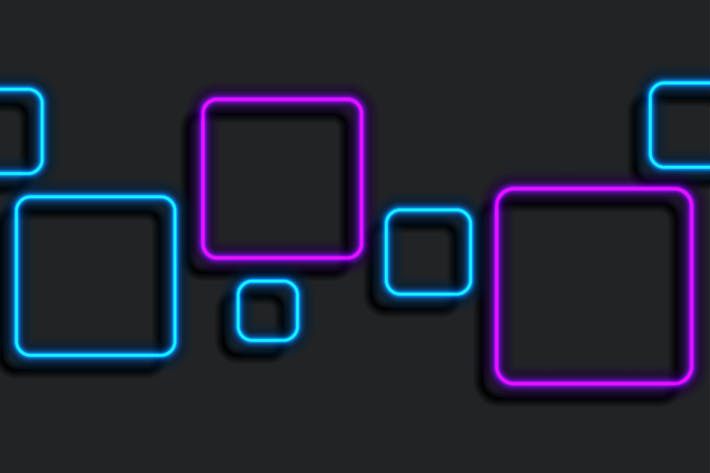 Thumbnail for Blue purple neon squares geometric background