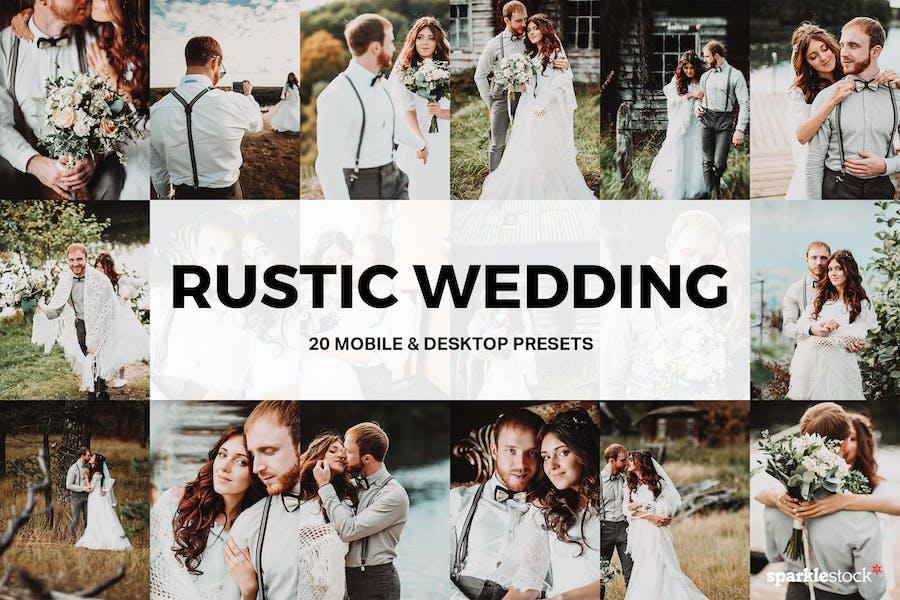 20 Rustic Wedding Lightroom Presets and LUTs