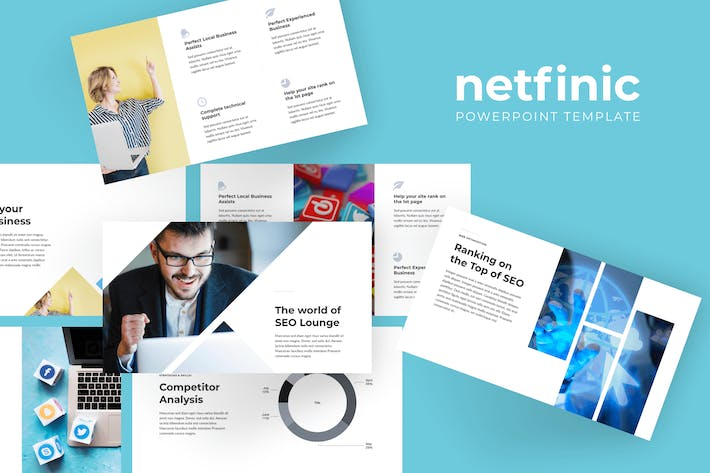 Thumbnail for Netfinic - Интернет-маркетинг PowerPoint Шаблоны