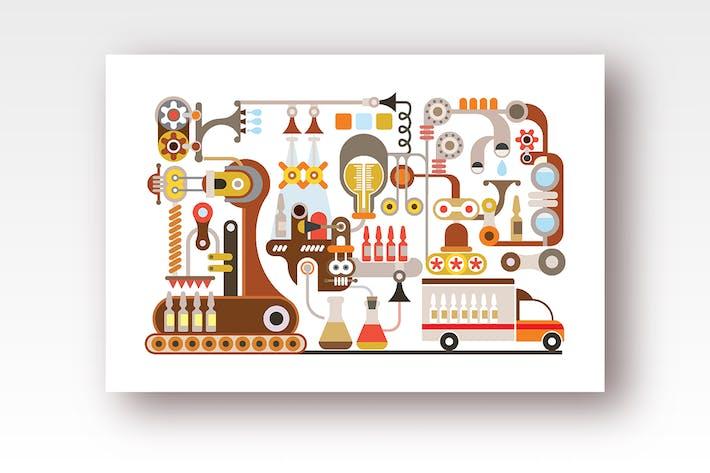Thumbnail for Pharmaceutical Factory vector design