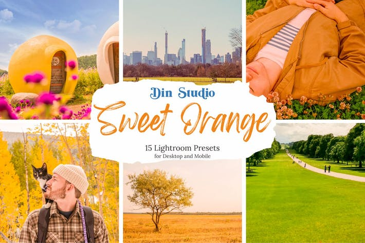 Thumbnail for Ajustes preestablecidos de Lightroom naranja dulce