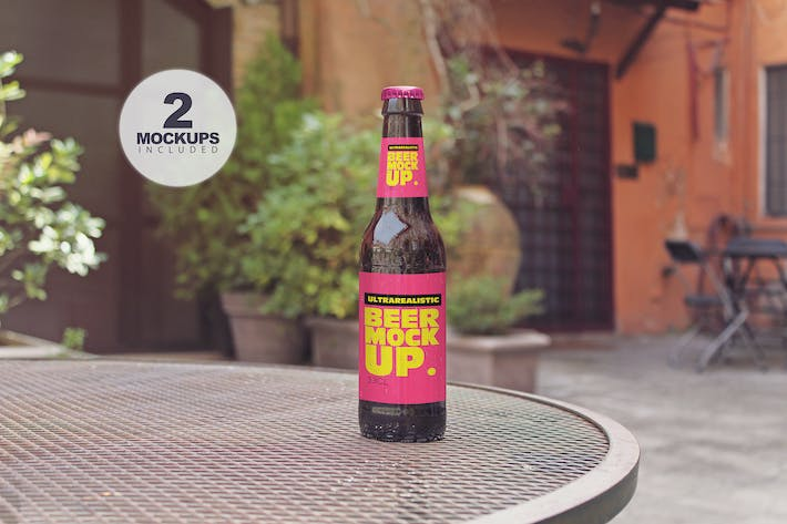 Thumbnail for Chair Beer Mockup Duo