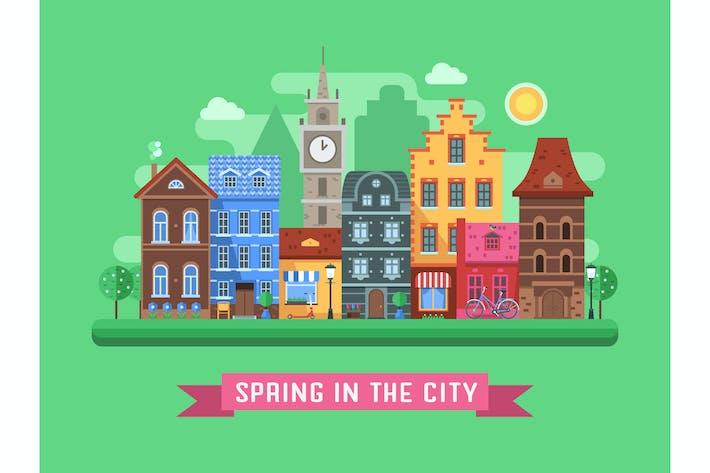Europe Spring City Landscape