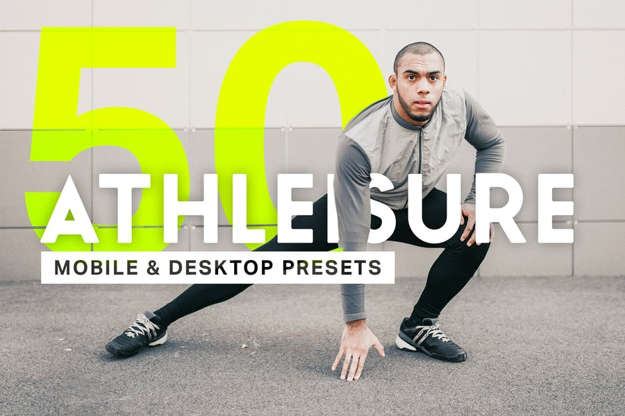 50 Athleisure Lightroom Presets and LUTs