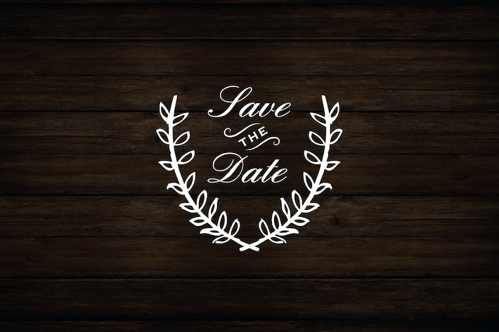 Thumbnail for Laurel Wreath Save The Date