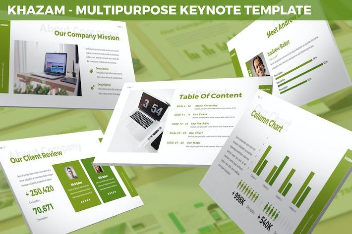 Thumbnail for Khazam - Multipurpose Keynote Template