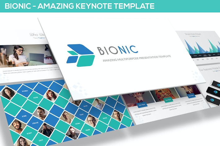 Thumbnail for Bionic - Amazing Keynote Template