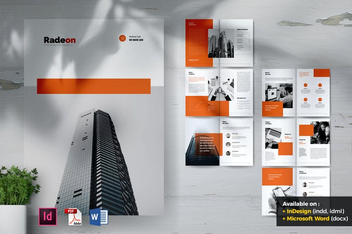 Cover Image For RADEON Creative Agency Company Profile Brochures