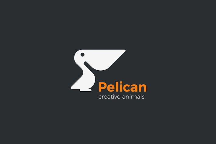 Thumbnail for Logo Pelican Bird silhouette abstract