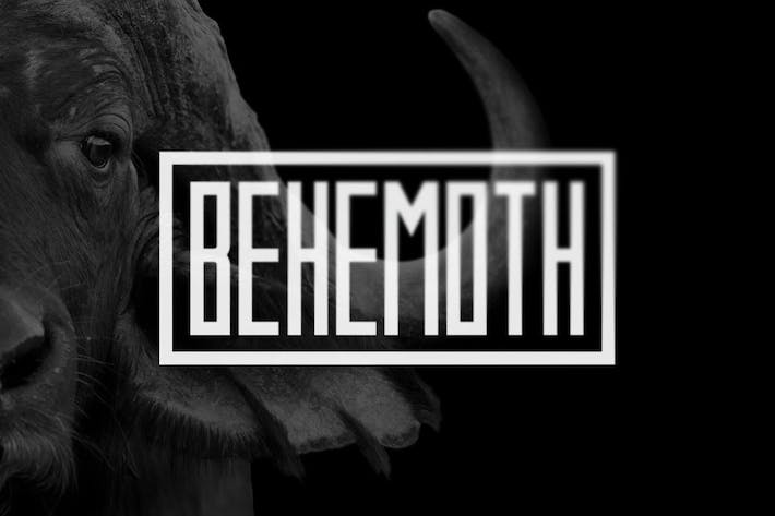 Thumbnail for Behemoth Typeface