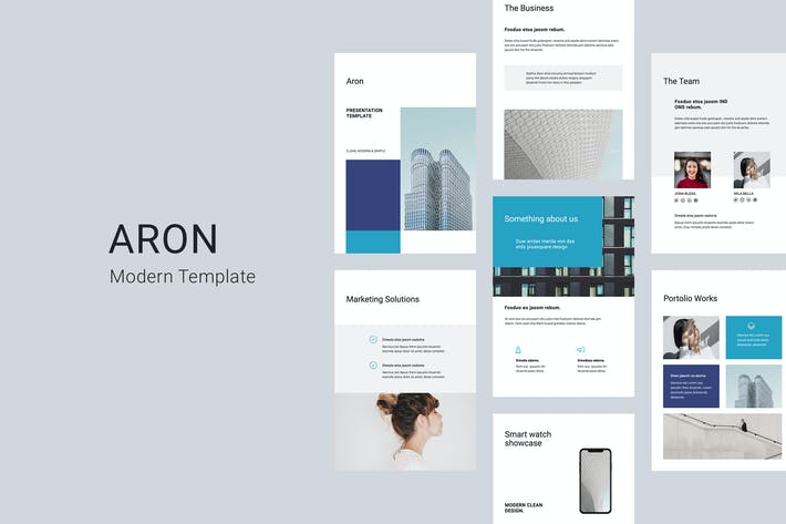 Thumbnail for ARON - A4 Vertical Powerpoint Template