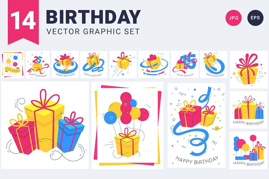 Feliz cumpleaños | set