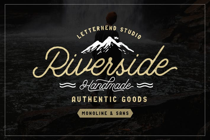 Thumbnail for Riverside Font Duo