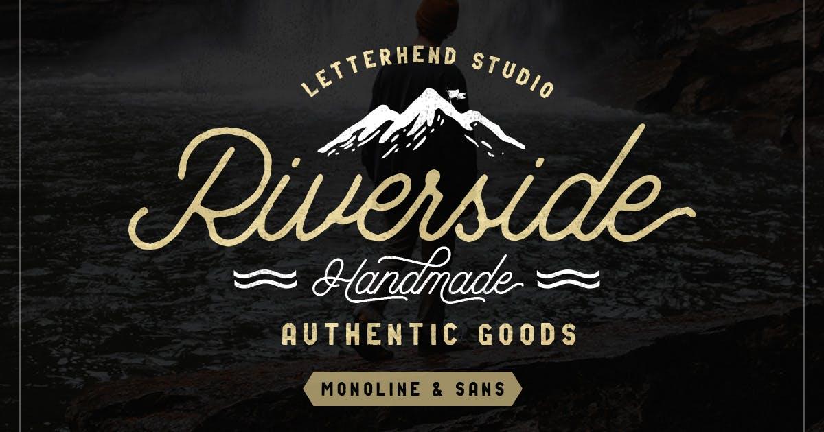 Riverside Font Duo by letterhend