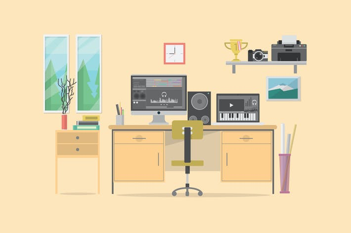 Thumbnail for Composer Workspace - Illustration Background