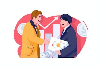 Affiliate Marketing vector Illustration concept.
