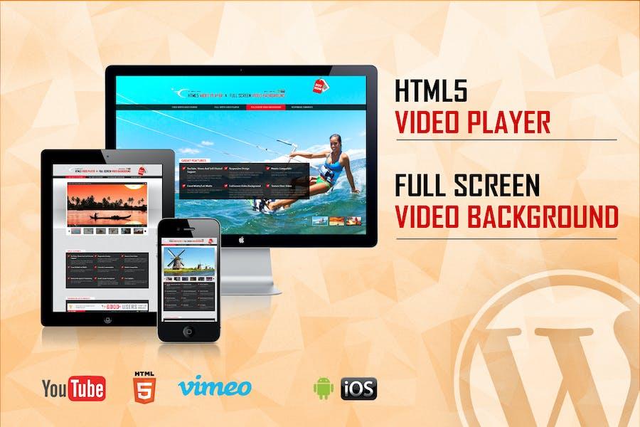 Video Player & FullScreen Video Background