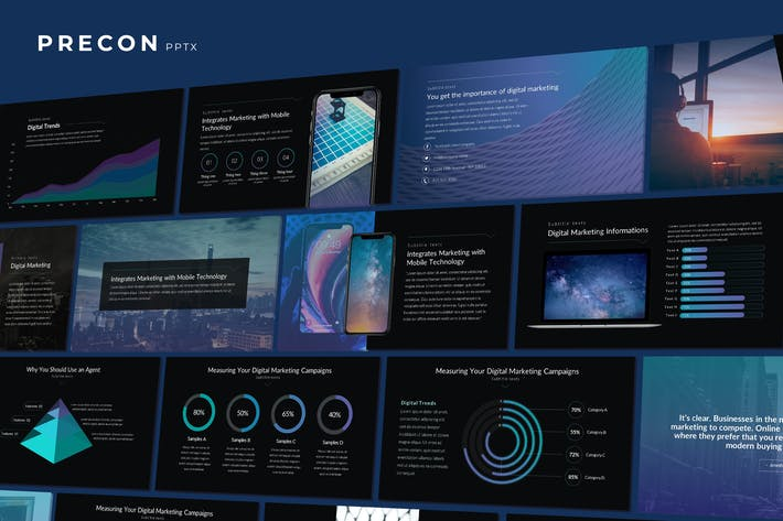 Thumbnail for Precon - Tech Business Powerpoint Template