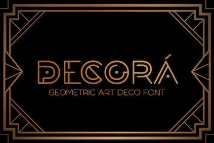 DECORÁ - Fuente Geométrica Art Deco