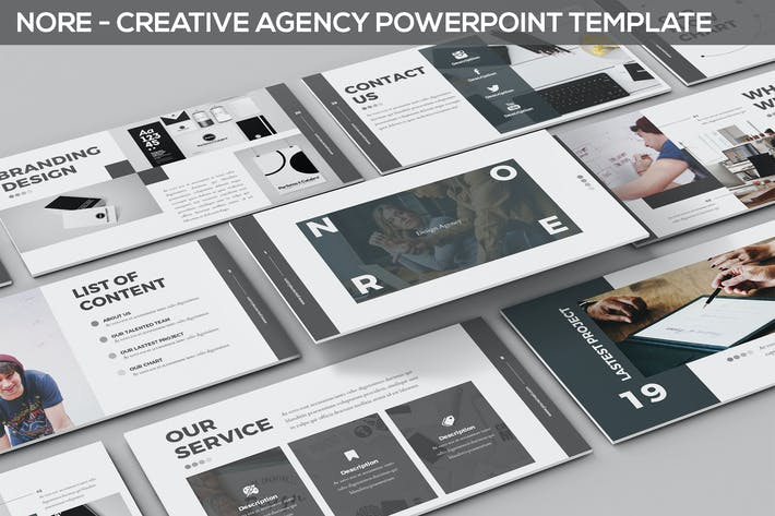 Thumbnail for Nore - Design Agency Powerpoint Template