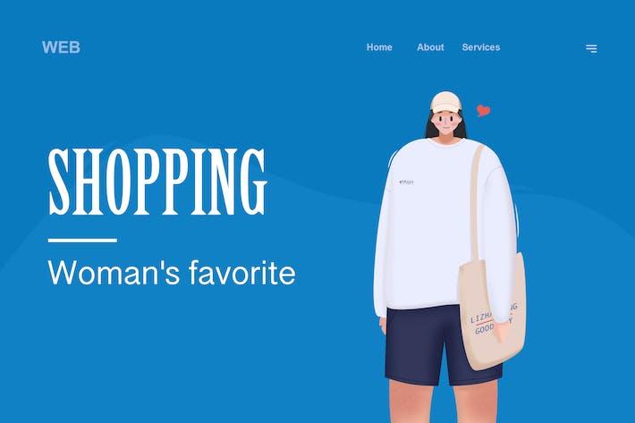 Thumbnail for shopping - flat Illustration