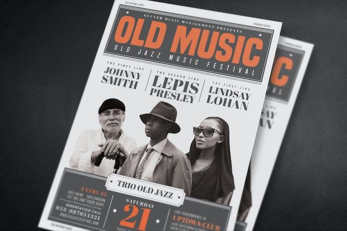 Thumbnail for Alte Vintage Musik Flyer
