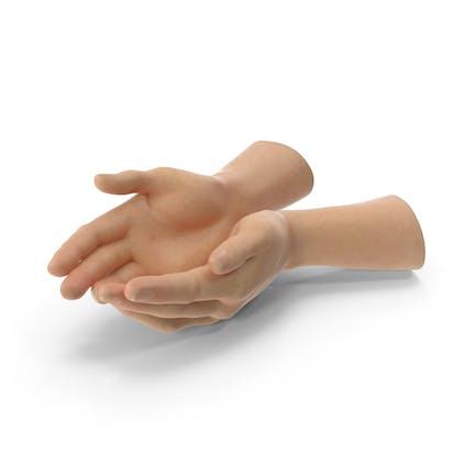 Dos manos puñado pose