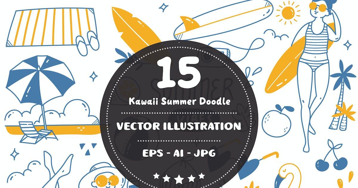 Download Kawaii Summer Doodle by GoDoodle