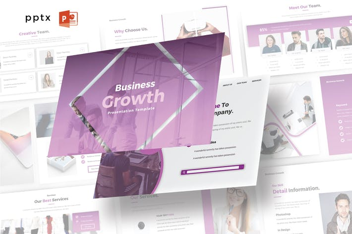 Thumbnail for BUSINESS GROWTH - Powerpoint V467