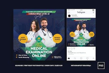 Medical Examination Square Flyer & Instagram Post
